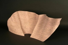 "un furl - wave - 2013 52"" h x 32"" w x 14"" dLaminated plywood, dye, lacquerAvailable"
