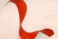 """ARC 3 (Dartmouth Arc) - 2008 58"""" h x 66"""" w x 9"""" d Laminated plywood, aniline dye Available by commission"""