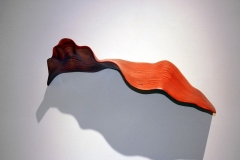 """LEAF 2 - 2007 14"""" h x 17"""" w x 9"""" d Laminated plywood, aniline dye Available by commission"""