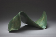 """GREEN WAVE - 2002 12"""" h x 28"""" w x 15"""" d Laminated plywood, aniline dye Available"""