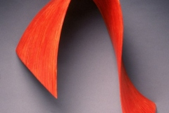 """ORANGE LOOP - 2003 30"""" h x 25"""" w x 8"""" d Laminated plywood, aniline dye Available by commission"""