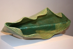 """GREEN NAUTILUS - 2007 10"""" h x 34"""" w x 23"""" d Laminated plywood, aniline dye Available"""