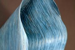"Stratus Undulatus - 2010 27"" h x 14"" w x 14"" d Laminated plywood, aniline dye Available"