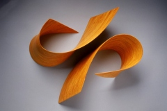 """YELLOW ARCS - 2000 20"""" h x 32"""" w x 7"""" d Laminated plywood, aniline dye Available by commission"""
