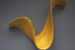 """YELLOW TWIST - 2003 20"""" h x 22"""" w x 7"""" d Laminated plywood Available by commission"""