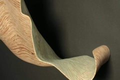 "un furl - green leaf - 201334"" h x 58"" w x 11"" dLaminated plywood, dye, lacquerAvailable"