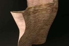"""un furl - wave - 2013 52"""" h x 32"""" w x 14"""" d Laminated plywood, dye, lacquer Available"""