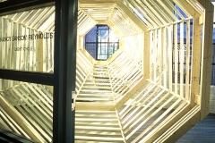 """Light Cycle"" - 1999 9' h x 9' w x 20' d Wood installation ""Washington Art-O-Matic"" at the Manhattan Laundry Washington, D.C."