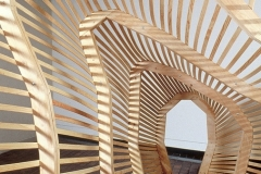 """""""Light Form"""" - 2000 8' h x 10' w x 12' d Wood installation American Institute of Architects Washington D.C."""